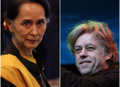 Both Aung San Suu Kyi and Bob Geldof have the keys to the city of Dublin.