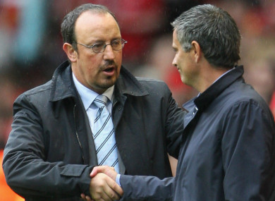 Mourinho and Benitez have not met on the sidelines in a competitive game since 2007.