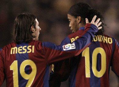 Ronaldinho: 'As a close friend I always cheer for his happiness.'