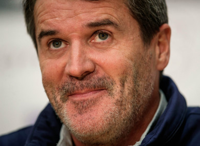 A smiling Keane at today's media event.