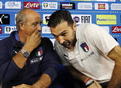 Ventura and veteran goalkeeper Gianluigi Buffon.