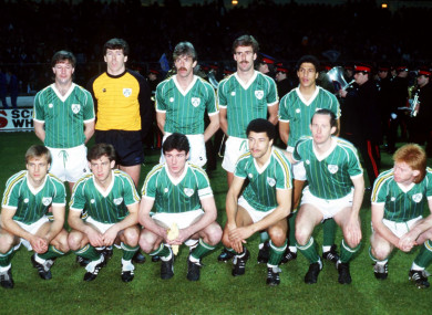 The Irish team pictured in 1985.