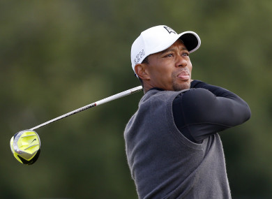 Tiger Woods (file pic).
