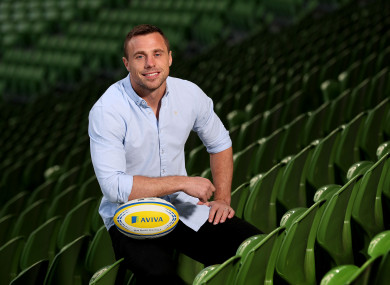 Bowe was at the Aviva Stadium this week to launch his partnership with Aviva.