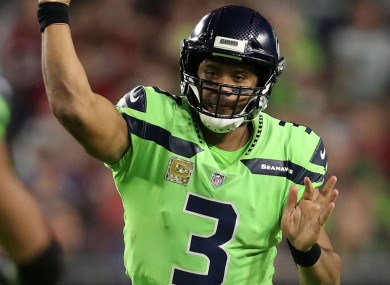 Russell Wilson was in good form again.