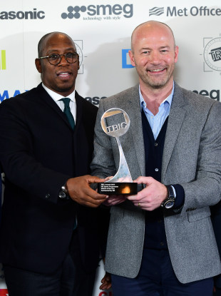 Ian Wright (left) and Alan Shearer were criticised by Arsenal fans for their analysis of the club's clash with Man United.