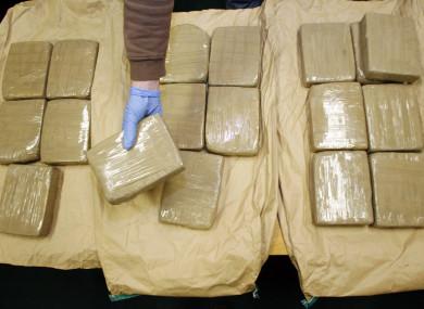Stock photo of a heroin seizure in Dublin in 2008.