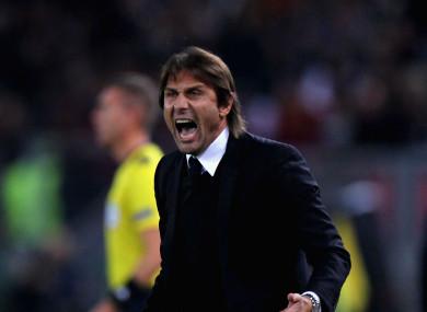 Fiery: Chelsea manager Antonio Conte.