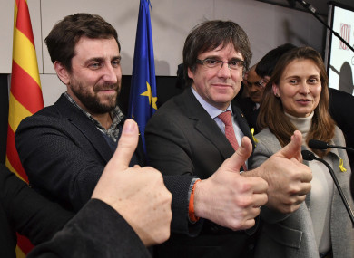 Catalan leader Carles Puigdemont was happy with yesterday's result.