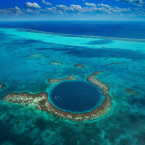 Belize is home to the largest barrier reef in the Northern Hemisphere and the thousand-foot-wide Great Blue Hole.<span class=