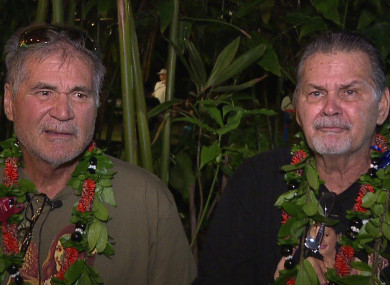 Alan Robinson and Walter Macfarlane are interviewed by the Honolulu news station KHON.