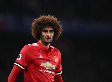 Marouane Fellaini (file pic).