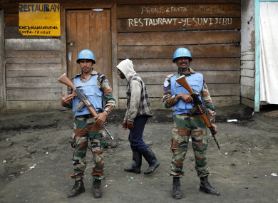 UN soldiers in Goma, eastern Congo