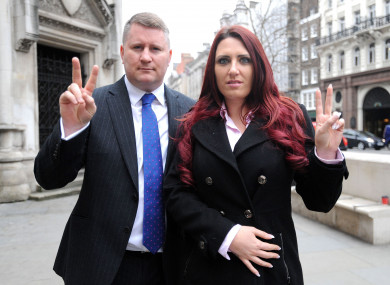 Leader of Britain First Paul Golding and deputy leader Jayda Fransen
