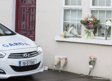 Tributes are left outside the home of Rosie Hanrahan.