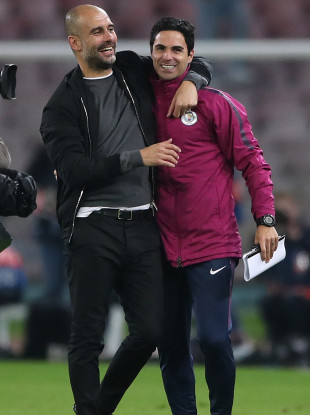 Guardiola and Arteta.
