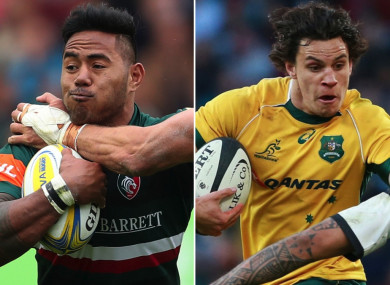 Manu Tuilagi and Matt Toomua.