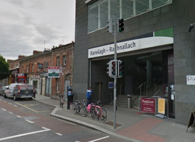 The man was discovered on the Ranelagh Road by the Luas stop.