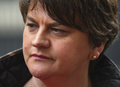 The DUP's leader Arlene Foster