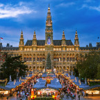 Christmas markets have warmed Vienna's city center for centuries. This is City Hall's classic Christkindlmarkt.