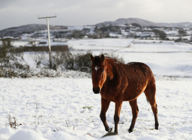 Wintry weather in Newry earlier this week