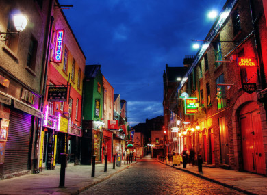 Crown Alley in Temple Bar, home to the Vintage Cocktail Club