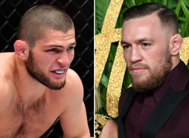 Khabib Nurmagomedov and Conor McGregor.