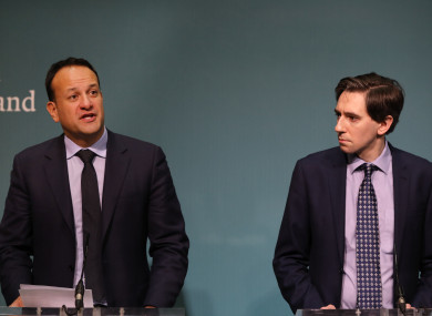 Taoiseach Leo Varadkar and Health Minister Simon Harris.