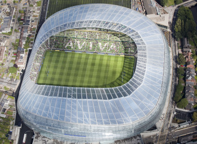 Aviva bought the naming rights to the redeveloped Lansdowne Road.