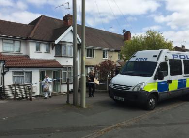 Police leave the scene of the crime in 2017.