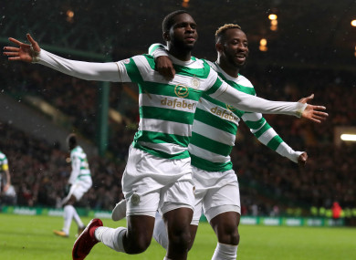 Celtic goalscorers Odsonne Edouard and Moussa Dembele.