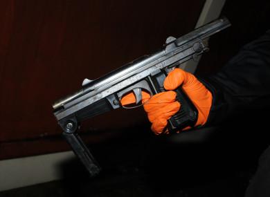 The gun which was seized.