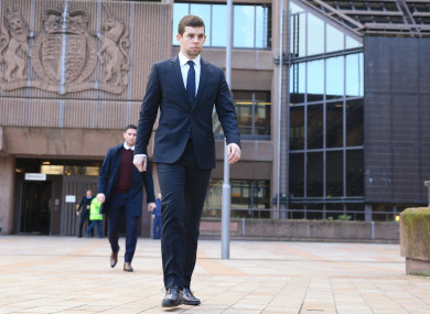 Jon Flanagan outside Liverpool Magistrates' Court today.