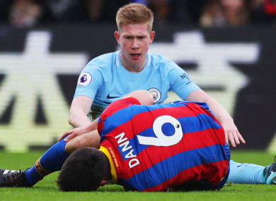 Kevin De Bruyne and Scott Dann.