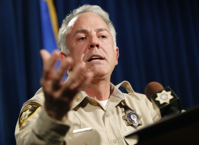 Sheriff Joe Lombardo at today's press conference