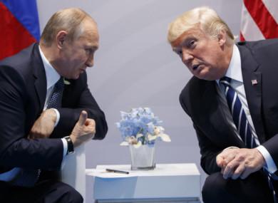 File photo of Vladimir Putin and Donald Trump.