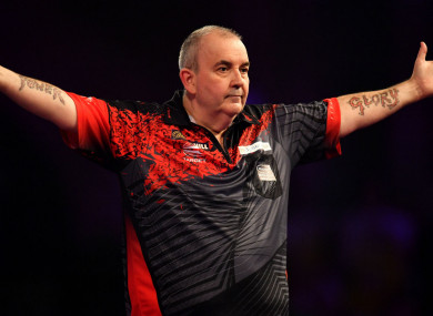 Darts legend Phil Taylor.