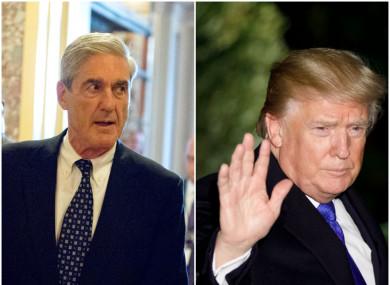 Left: Robert Mueller; right US President Donald Trump.