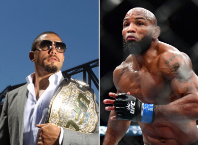 Robert Whittaker will be replaced by Yoel Romero next month in Perth.