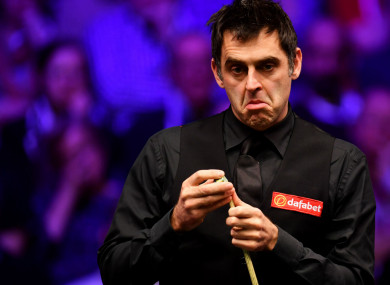 Snooker star Ronnie O'Sullivan.