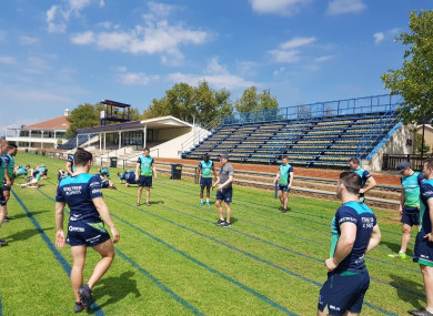 Connacht trained in South Africa this morning.