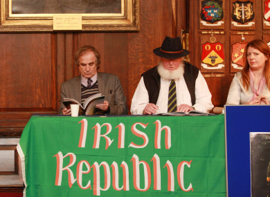 James Connolly Heron, Proinsias O Rathaille and Donna Cooney of the 1916 Relatives Association.