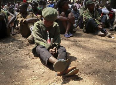File photo: A child soldier in South Sudan.