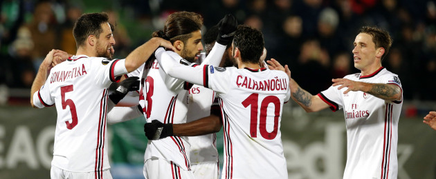 Milan: beat Ludogorets of Bulgaria in the last 32.
