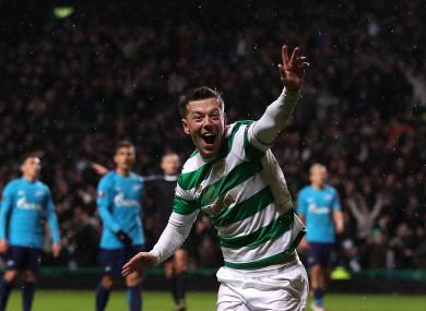 Celtic's Callum McGregor celebrates.