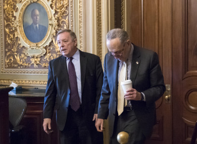 Senator Dick Durbin and Senate minority leader Chuck Schumer