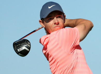 Former world number one Rory McIlroy