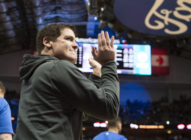Dallas Mavericks owner Mark Cuban (file pic).