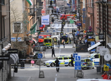 Stockholm in Sweden after a beer truck crashed into an upscale department store in April 2017.