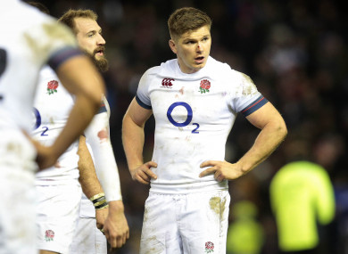 Owen Farrell was involved in the pre-match incident.